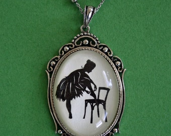 Sale 20% Off // ANNA PAVLOVA Necklace - pendant on chain - Silhouette Jewelry // Coupon Code SALE20