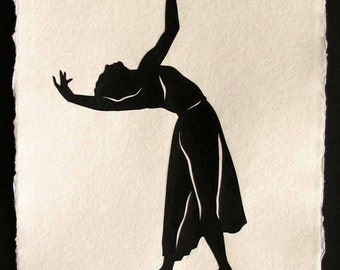 Sale 20% Off // BEING MAYA Papercut - Hand-Cut Silhouette (Great Dancers Series) // Coupon Code SALE20
