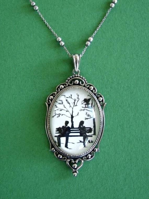Sale 20% Off // DIVINE INTERVENTION Necklace - pendant on chain - Silhouette Jewelry // Coupon Code SALE20