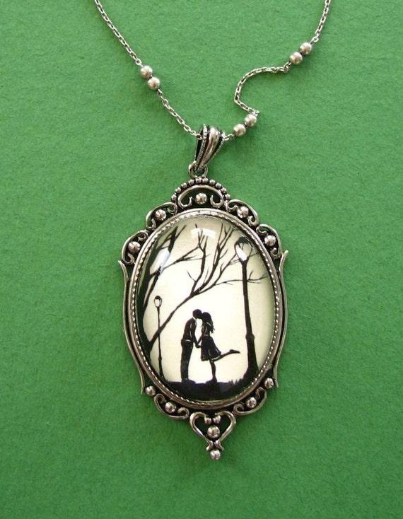 Autumn Kiss Necklace, pendant on chain
