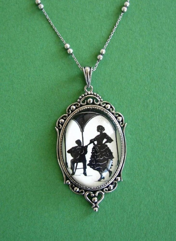 Sale 20% Off // A NIGHT IN SEVILLE Necklace - pendant on chain - Silhouette Jewelry // Coupon Code SALE20