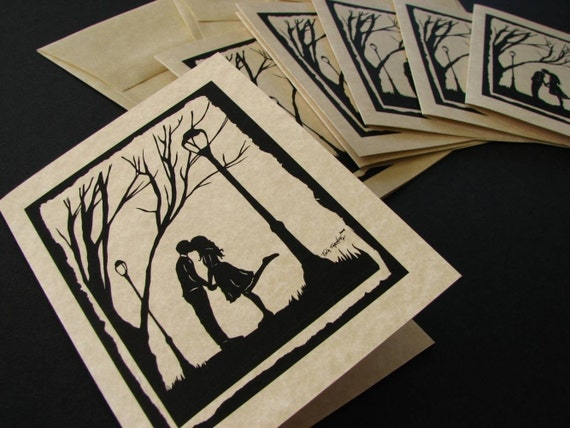 Autumn Kiss - set of 6 note cards