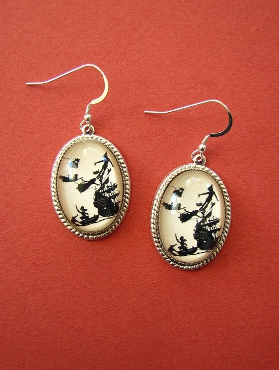 Sale 20% Off // PETER PAN Earrings - Silhouette Jewelry // Coupon Code SALE20