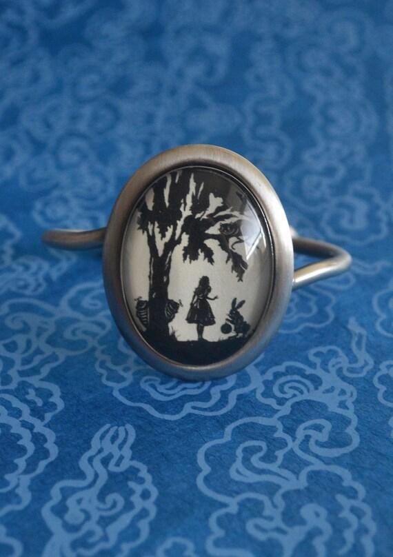 Sale 20% Off // ALICE IN WONDERLAND Bracelet - Silhouette Jewelry // Coupon Code SALE20