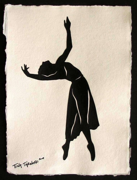 Sale 30% Off // BEING MAYA Papercut - Hand-Cut Silhouette (Great Dancers Series) // Coupon Code SALE30