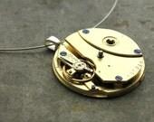 GRAND GOLD antique ART DECO steampunk necklace