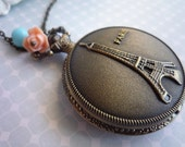 Amelie of Montmarte..pocket watch necklace