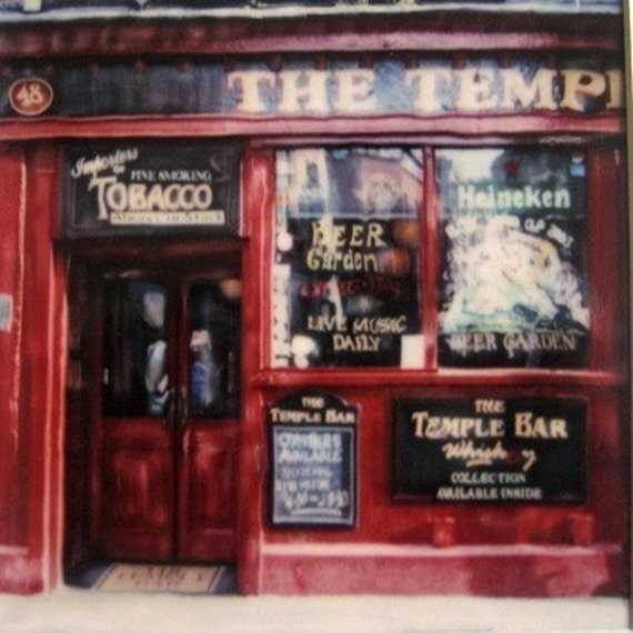 Dublin Polaroid  -Temple Bar Dublin - Signed Fine Art Polaroid Photograph Print