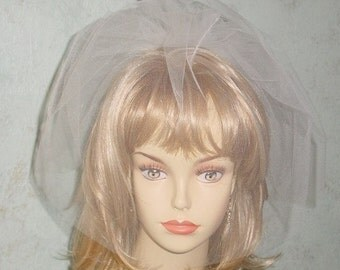 Double Blusher  Wedding Veil on Comb Made to Order