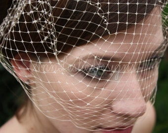 Small Birdcage Blusher Wedding Veil 25 Colors Available