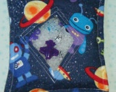 Space Alien I Spy Bag with sewn on list and picture card