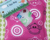Pink Monkey Around I Spy Bag with Picture Card