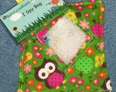 Retro Owl I Spy Bag with sewn on list and picture list