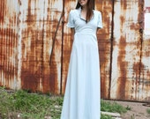 Gorgeous Vintage Baby Blue Formal Style Maxi Dress, S