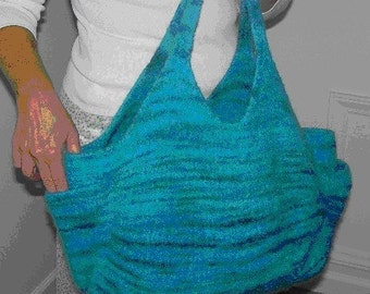 The Carpetbagger Hand Knit Felted Purse Pattern PDF
