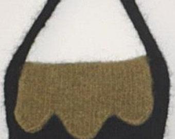 The Jester Hand Knit Felted Purse Patternn PDF