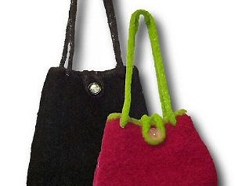 The Twice As Nice Hand Knit Felted Purse Pattern PDF