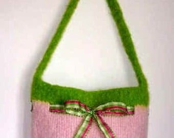 The Jelly Bag Hand Knit Felted Purse Pattern PDF