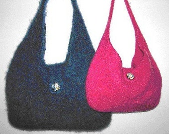 The Mega/Phat Hand Knit Felted Purse Pattern PDF