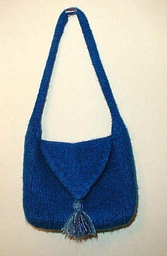 The Pristine Shoulder Bag Hand Knit Felted Pattern PDF