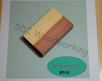 Handmade Wooden Cedar Business Card Holder