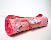 Pink Unicorn Changing Pad with Japanese Fabric