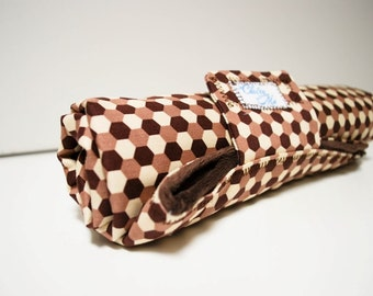 Baby Changing Pad with Joel Dewberry Ginseng Fabric Natural Brown