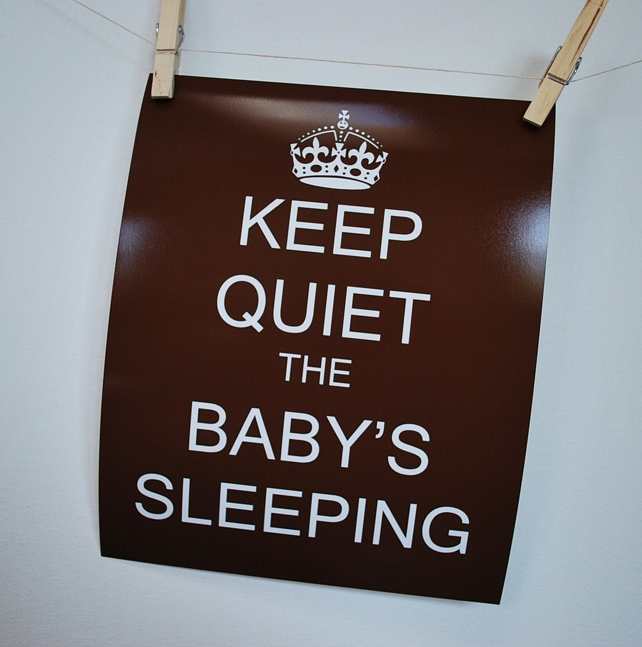 Keep Quiet The Baby S Sleeping Poster