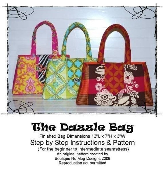 The Dazzle Bag ebook Pattern File Hand Bag