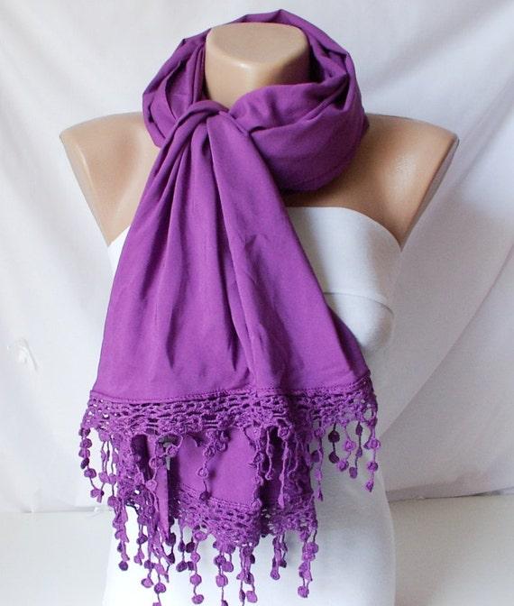 Purple, Plum purple tones  Long Scarf,  Shawl , Stole, Wrap