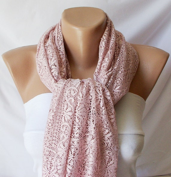 Tulle Scarf -  Pink Shawl - Wrap Scarf - Tulle Shawl