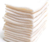 Free Offer - Natural ORGANIC Cotton/ Bamboo Facial Cloths or Baby Wipes- 8x8- Set of 8