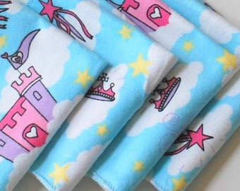 FREE OFFER Child Reusable Cloth Napkins / Wipes- Set of 4- Castle in the Sky