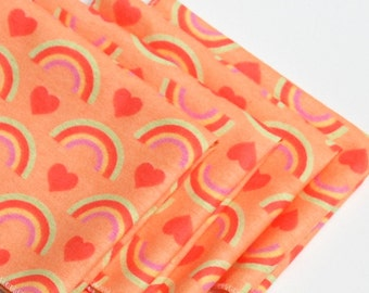 FREE OFFER Child Reusable Cloth Napkins / Wipes - Set of 4- Rainbow Fields