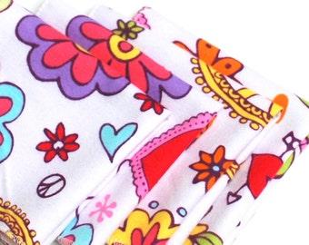 FREE OFFER Child Reusable Cloth Napkins / Wipes - Set of 4- Doodlie Doo