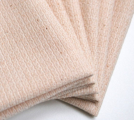 FREE OFFER  ORGANIC Unbleached Colorgrown Cotton Reusable Cloth Napkins / Wipes- Set of 6
