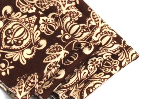 FREE OFFER Child Reusable Cloth Napkins / Wipes - Set of 4- Brown Damask