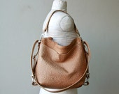 PETITE HOBO PACK  'three in one'  -  two outside pockets - leather backpack -  choose your leather