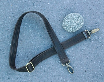 R&T MESSENGER STRAP  - tumbled antique brass hardware  - adjustable cross body strap