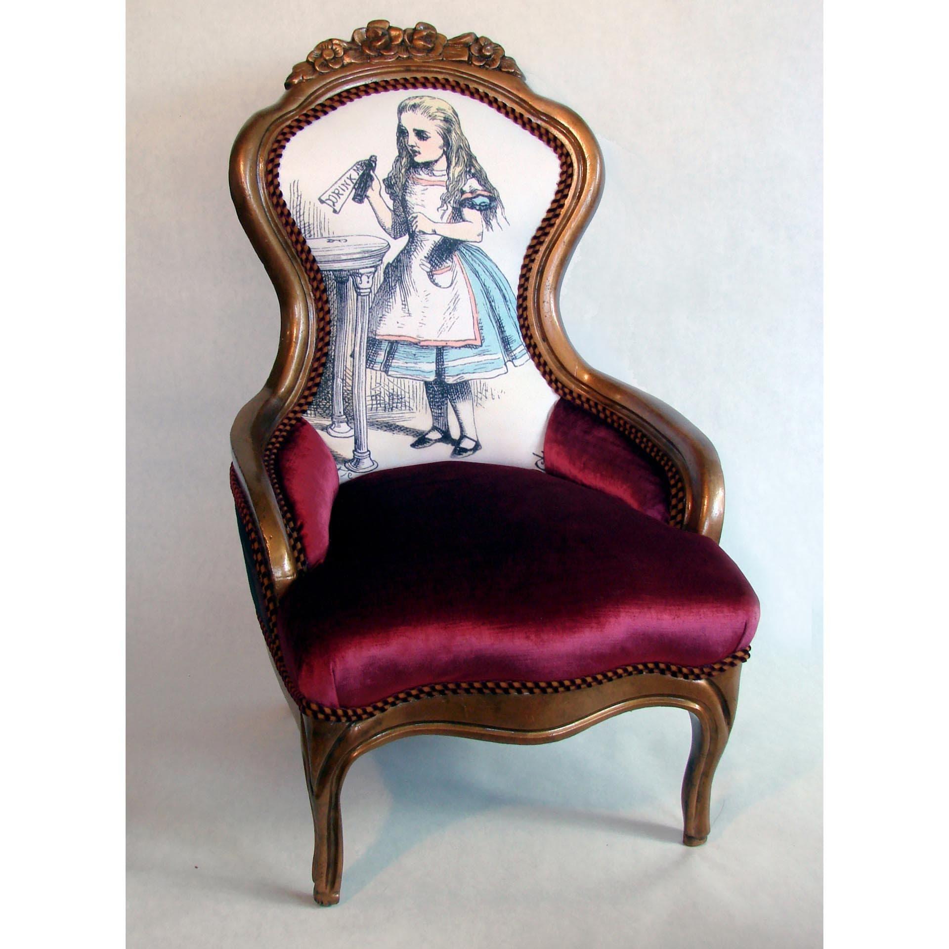 Alice In Wonderland Victorian Chair