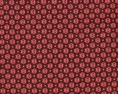 Pink Ladybugs on Brown Background Fabric by Moda