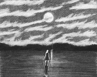 SOPHIA lake ORIGINAL drawing