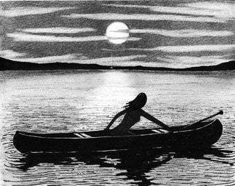 SOPHIA canoe ORIGINAL drawing