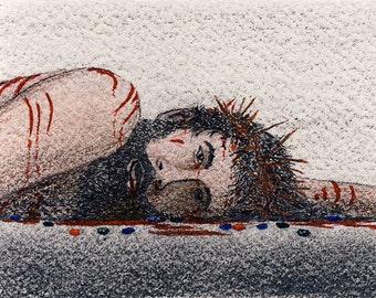 Jesus Suffers Among Precious Stones print