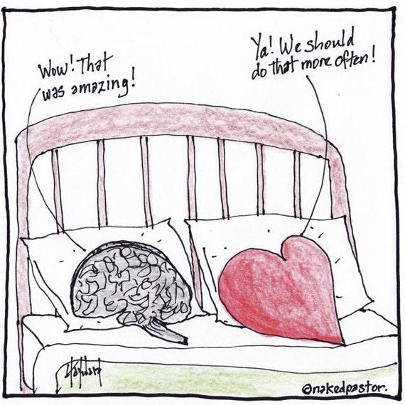 heart and brain copulate PRINT