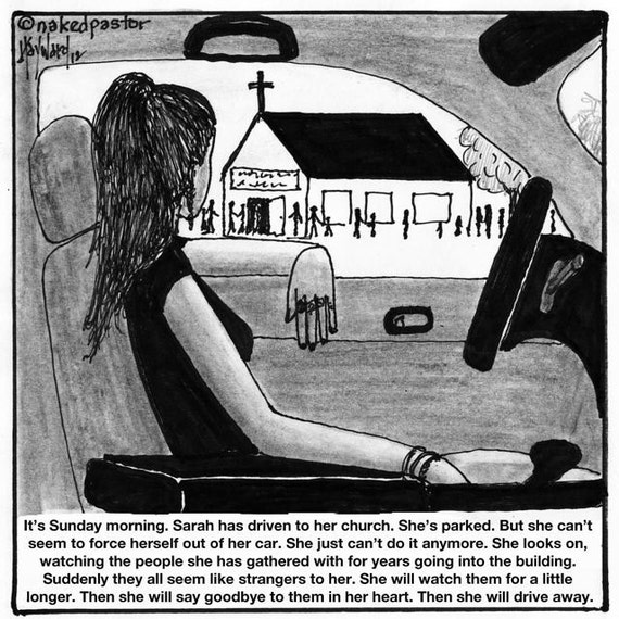 Park and Drive FINE ART cartoon reproduction PRINT