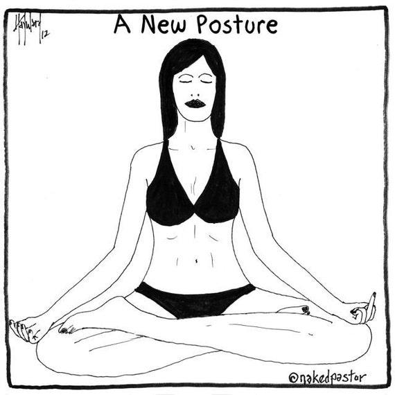 new meditation pose PRINT