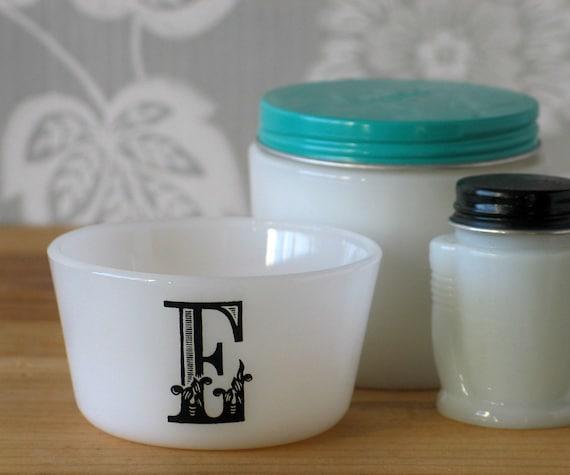 m and e milkglass bowls