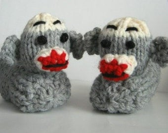 Sock Monkey Slippers Monkey Slippers Children's animal slippers made to order