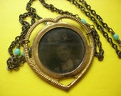 Heart-Shaped Antique Tintype Necklace